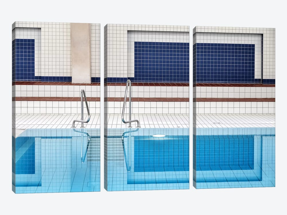 Swimming Pool by Renate Reichert 3-piece Art Print