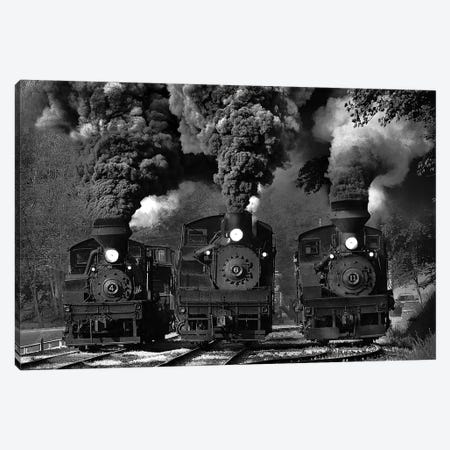 Train Race In B&W Canvas Print #OXM200} by Chuck Gordon Canvas Art