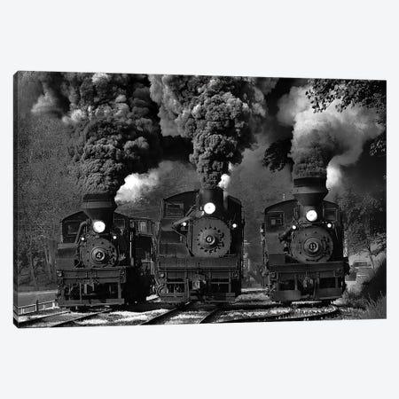 Train Race In B&W Canvas Print #OXM200} by Chuck Gordon Canvas Art