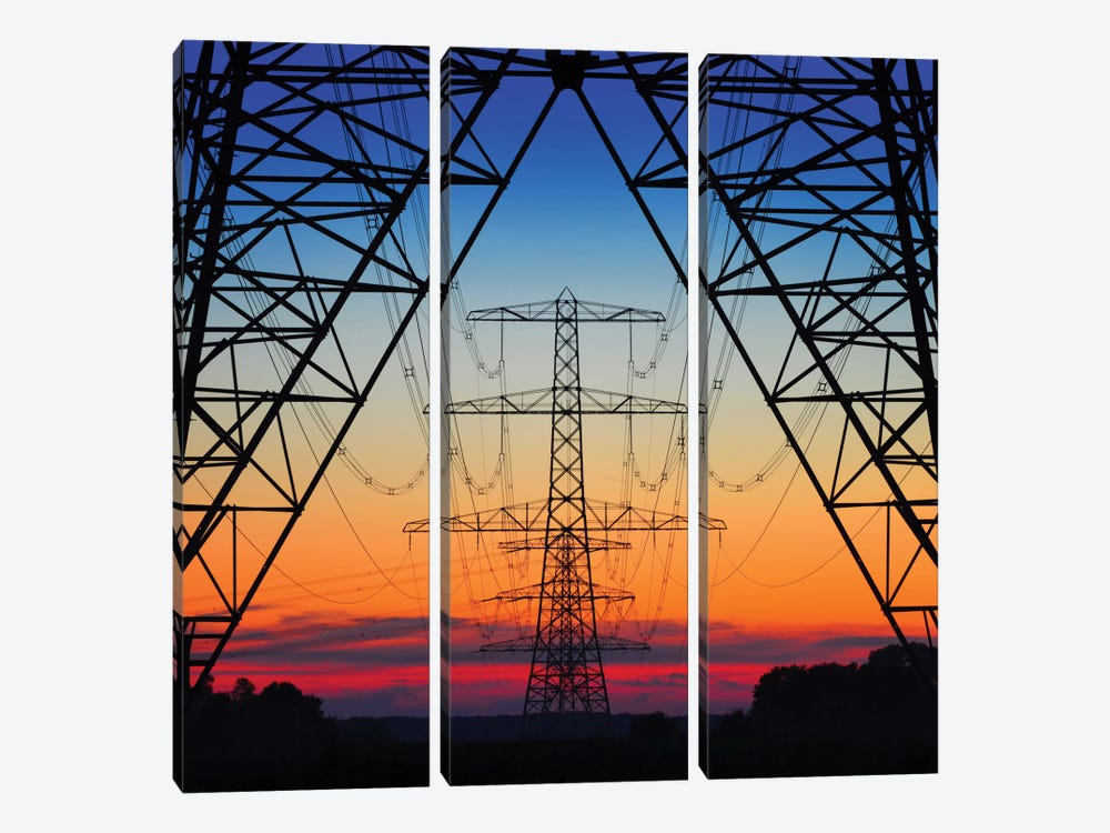 Electric Coloured Sky by Riekus Reinders 3-piece Art Print