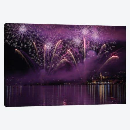 Fireworks Lake Pusiano 3-Piece Canvas #OXM2020} by Roberto Marini Canvas Artwork
