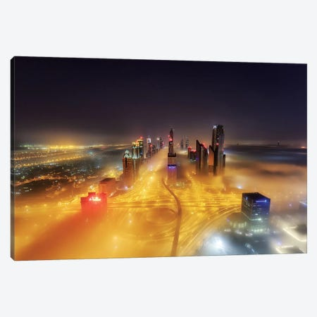 Fog Invasion Canvas Print #OXM203} by Mohammad Rustam Canvas Artwork