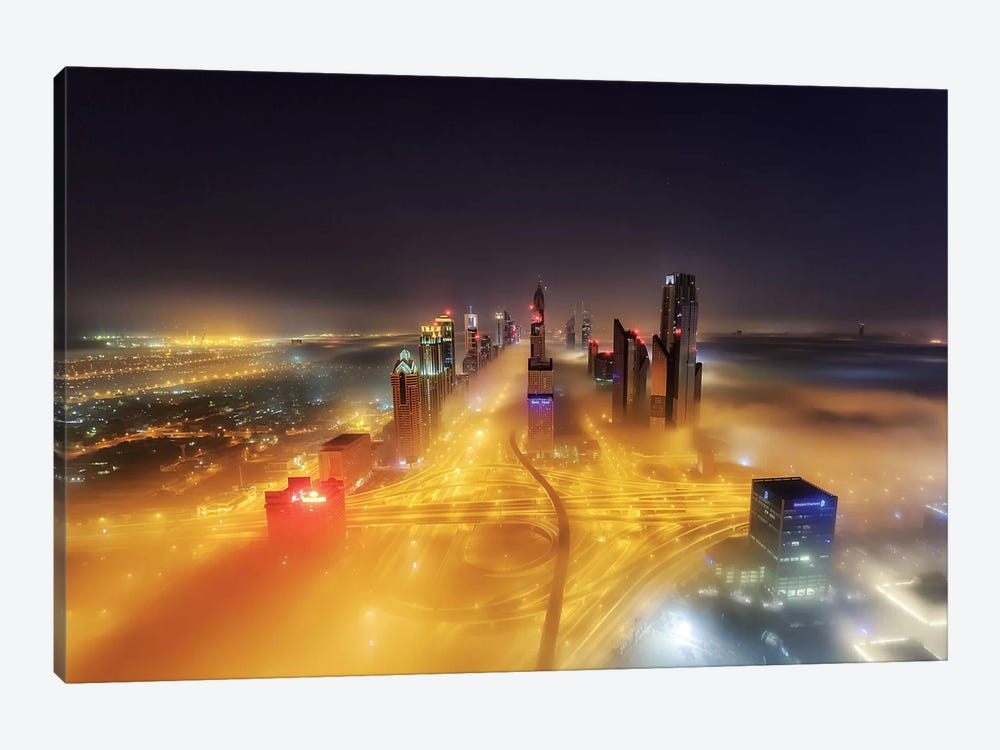 Fog Invasion by Mohammad Rustam 1-piece Canvas Art Print