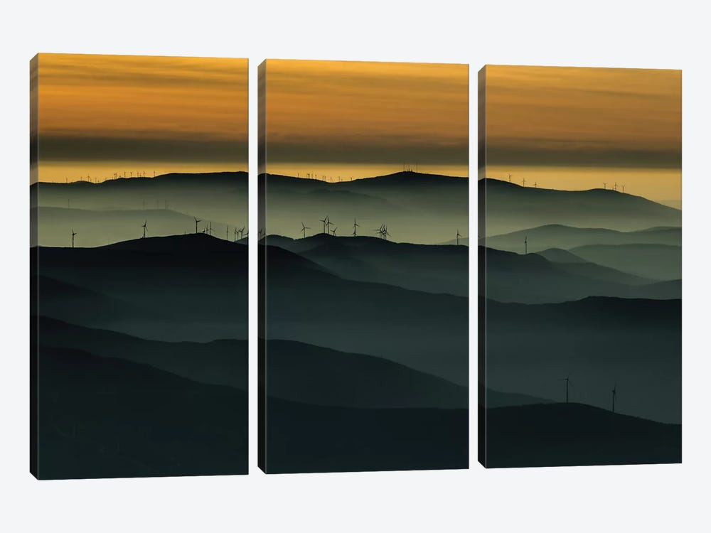 Below The Horizon by Rui Correia 3-piece Canvas Wall Art