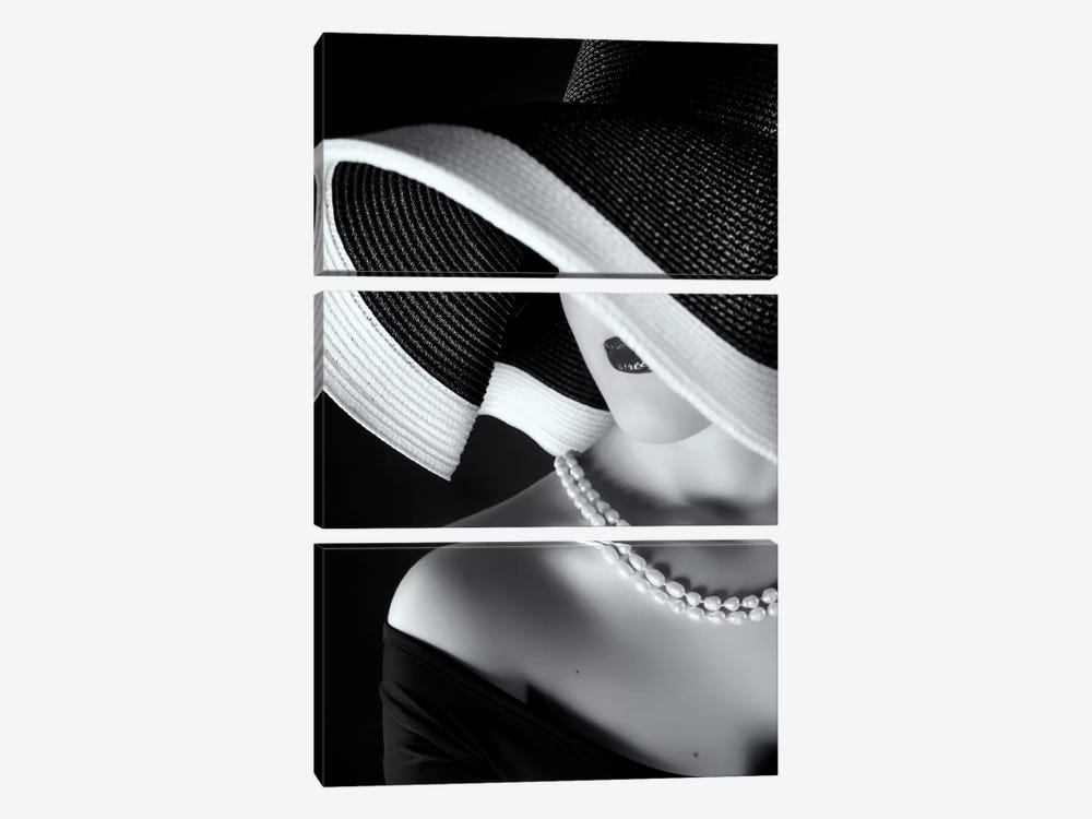 La Femme au Chapeau by Ruslan Bolgov 3-piece Canvas Artwork
