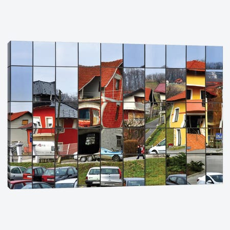 Rubik's Town Canvas Print #OXM2055} by Samanta Canvas Wall Art
