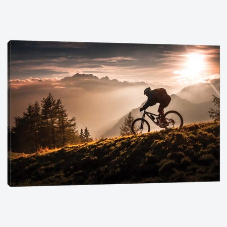 Golden Hour Biking Canvas Print #OXM2058} by Sandi Bertoncelj Canvas Print