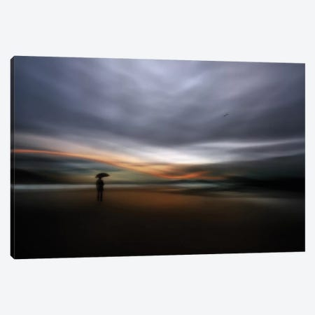 Rainy Night Canvas Print #OXM2060} by Santiago Pascual Buye Canvas Wall Art