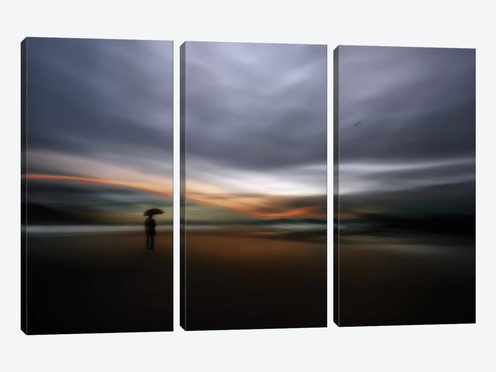 Rainy Night by Santiago Pascual Buye 3-piece Canvas Art Print