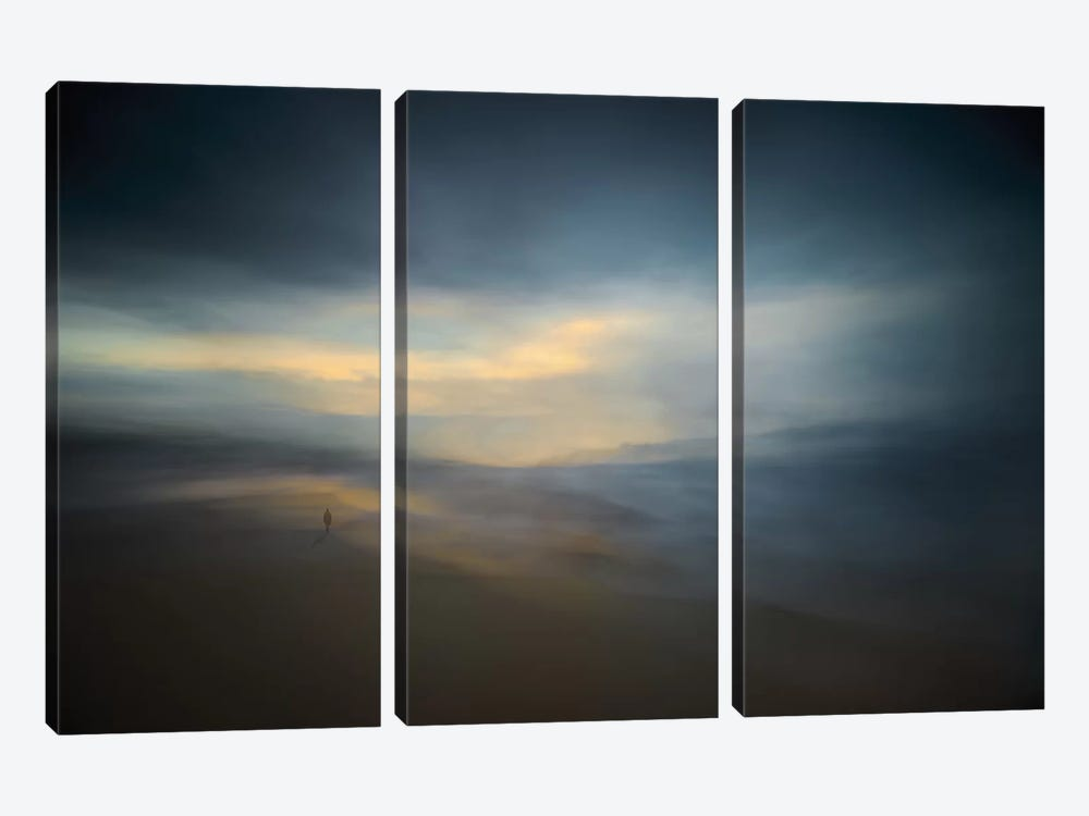 Walk Along The Edge Of Nowhere by Santiago Pascual Buye 3-piece Canvas Art