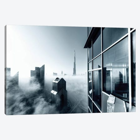Foggy City Canvas Print #OXM206} by Naufal Canvas Print