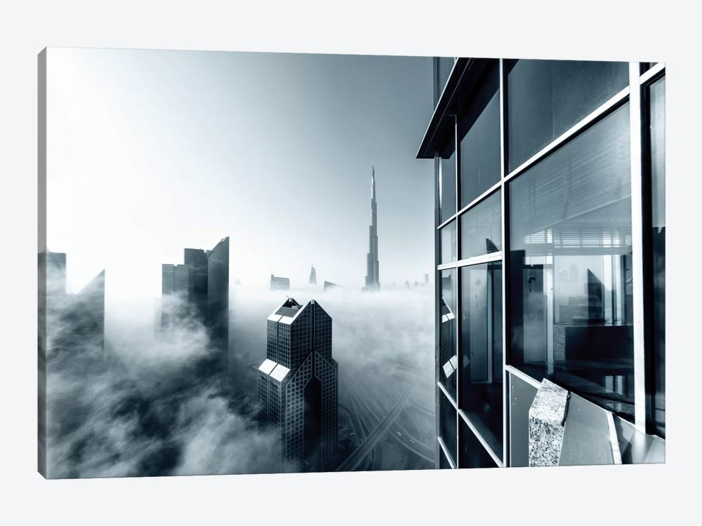 Foggy City by Naufal 1-piece Canvas Artwork
