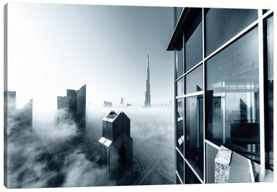 Foggy City Canvas Art Print