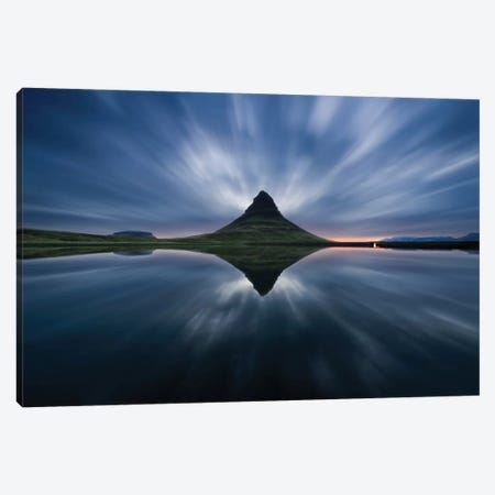 A Night At Kirkjufell Canvas Print #OXM2086} by Simon Roppel Art Print