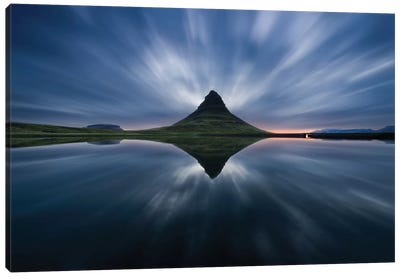 A Night At Kirkjufell Canvas Print #OXM2086