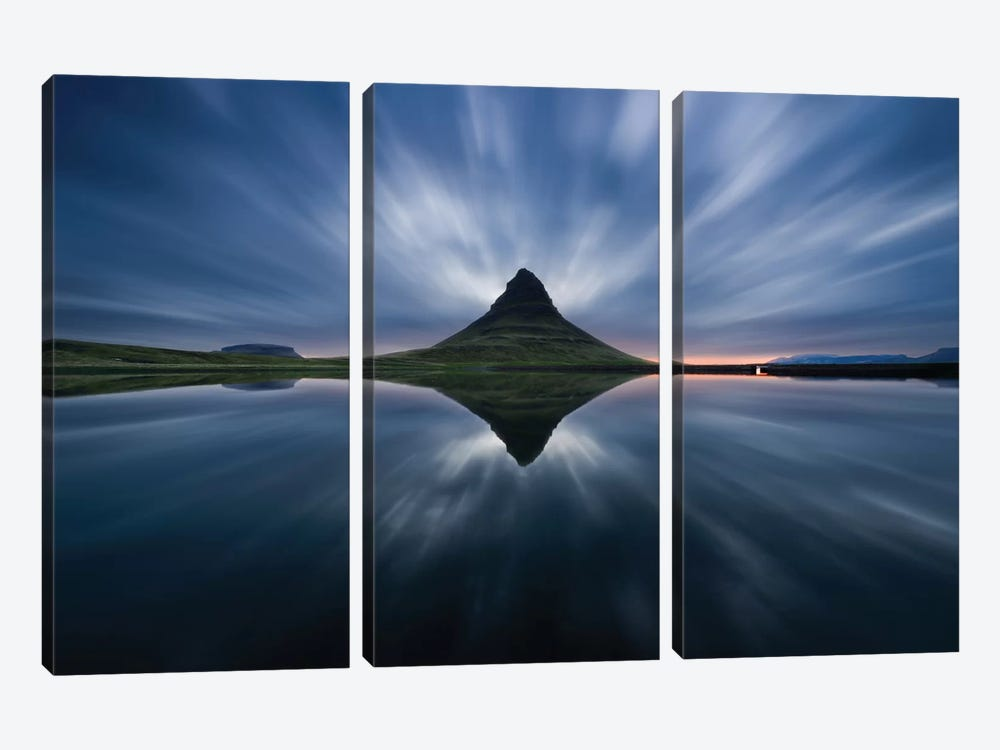 A Night At Kirkjufell 3-piece Canvas Print