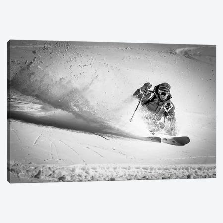 Henri Making A Powder Turn… Canvas Print #OXM20} by Eric Verbiest Art Print