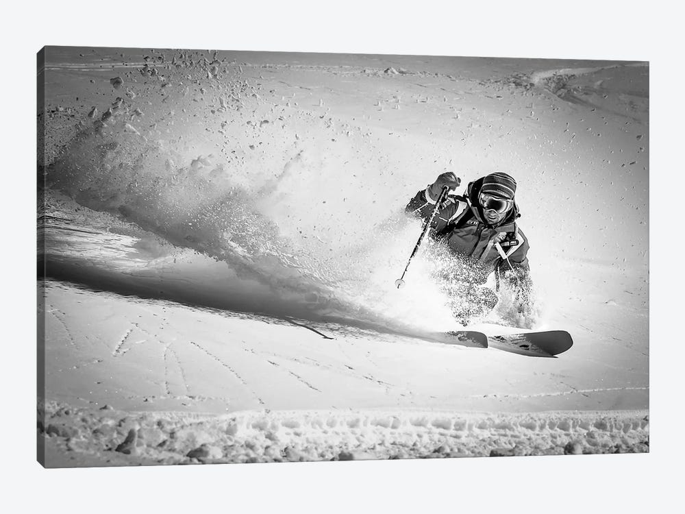 Henri Making A Powder Turn… by Eric Verbiest 1-piece Canvas Artwork