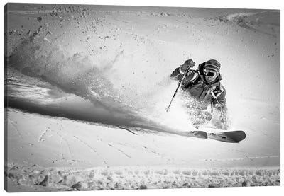 Henri Making A Powder Turn… Canvas Art Print