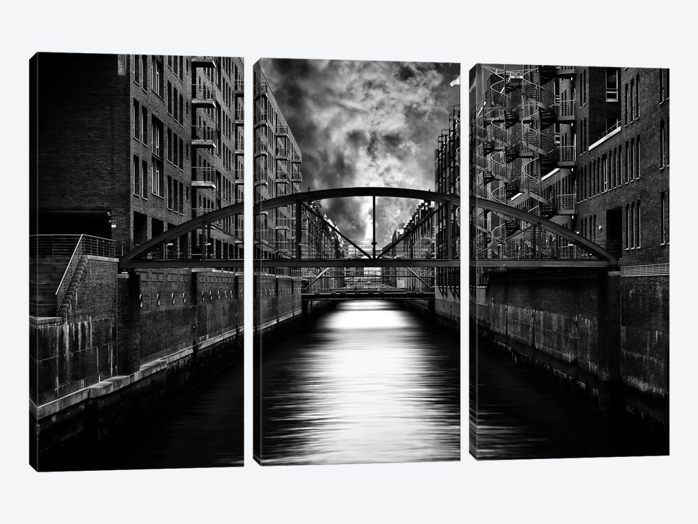 The Other Side Of Hamburg by Stefan Eisele 3-piece Canvas Artwork