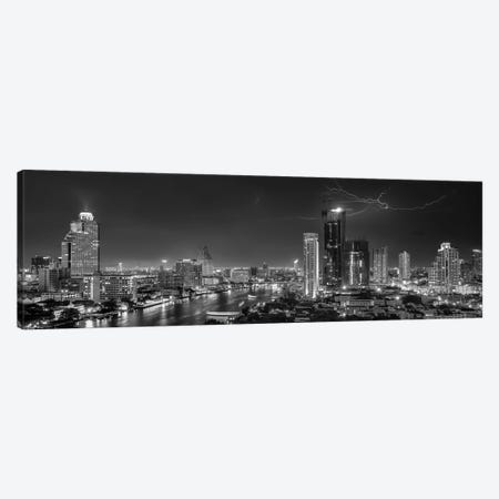 Bangkok Lightning Canvas Print #OXM2106} by Stefan Schilbe Canvas Art