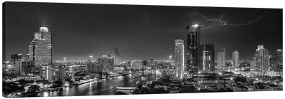 Bangkok Lightning Canvas Art Print