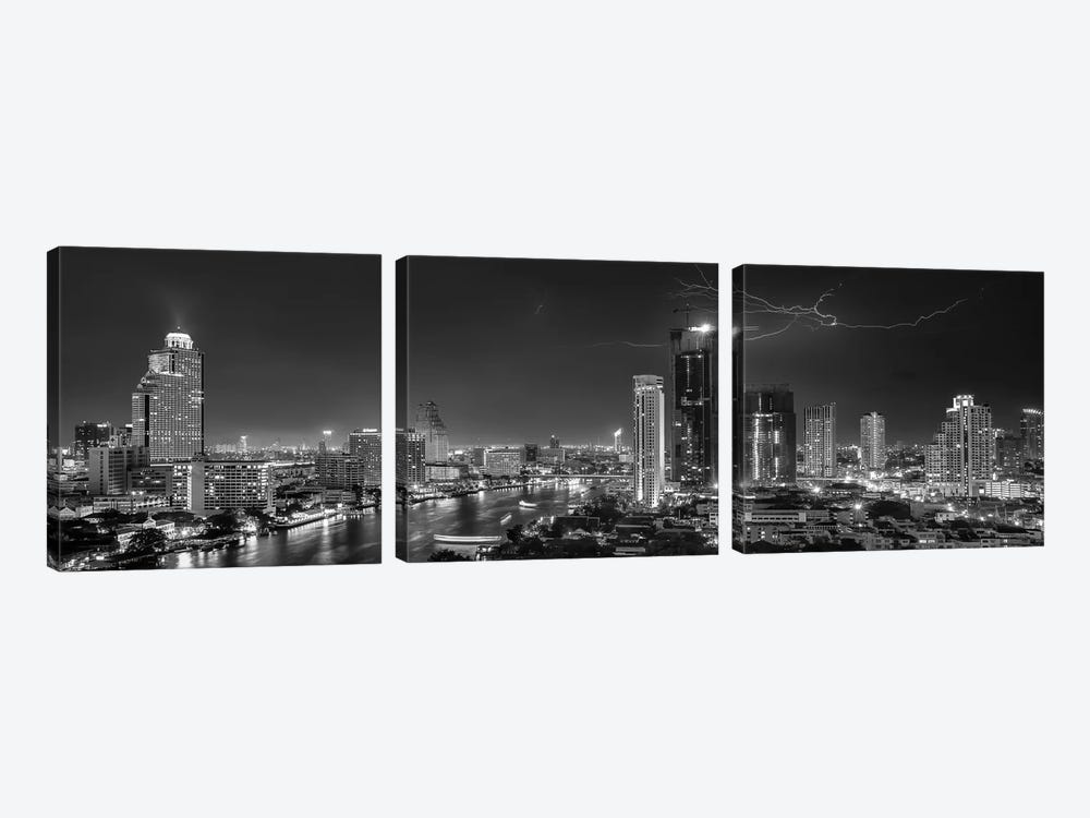 Bangkok Lightning by Stefan Schilbe 3-piece Canvas Artwork