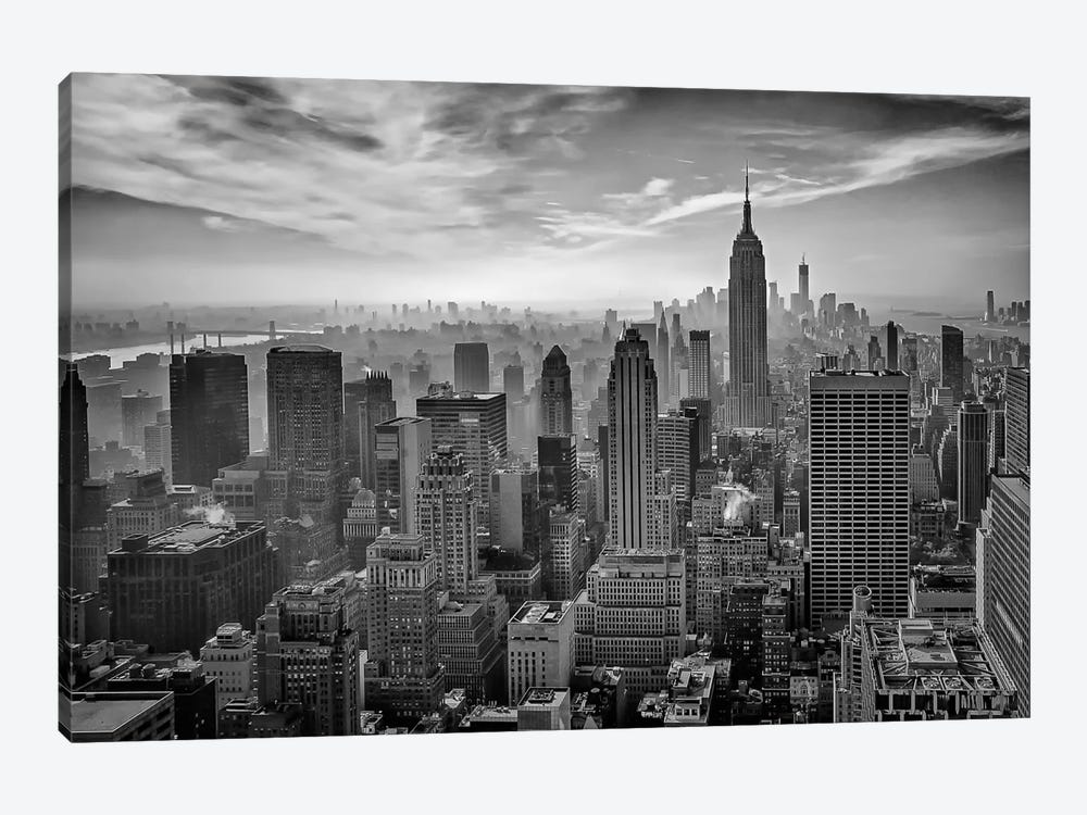 Hazy Gotham by Stefan Schilbe 1-piece Canvas Art Print