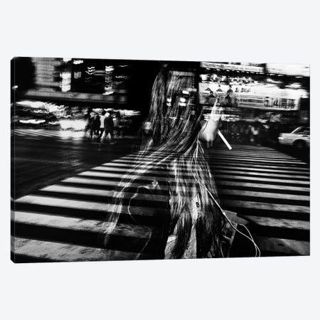 Girl With Cigarette Canvas Print #OXM2130} by Tatsuo Suzuki Canvas Art