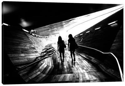 Walking Towards The Light Canvas Art Print