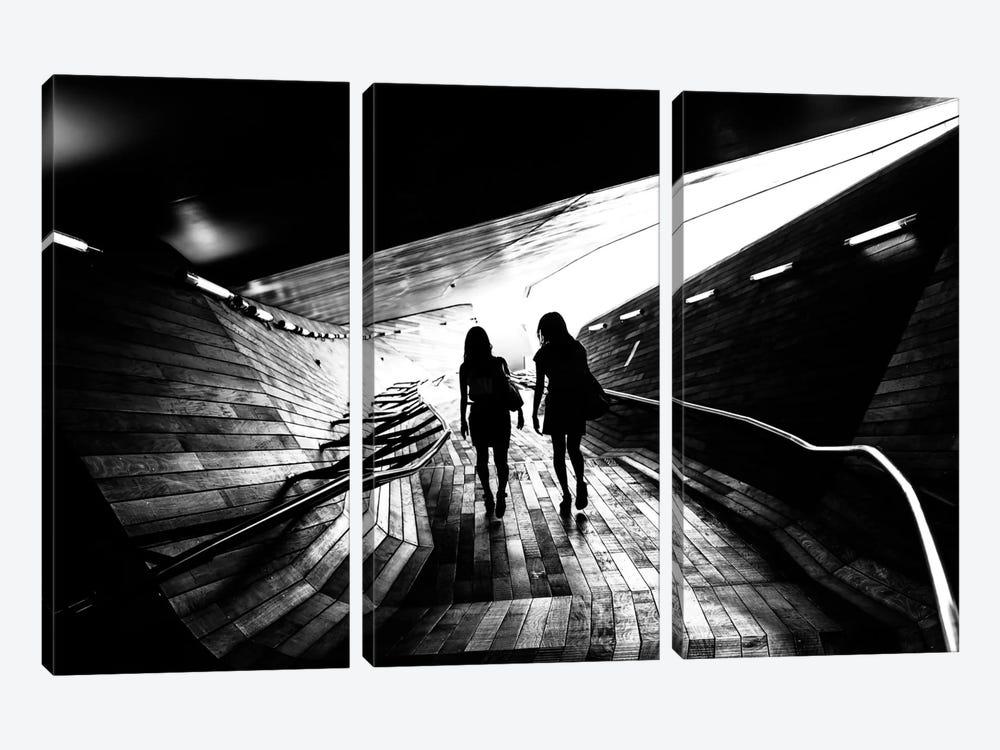 Walking Towards The Light by Tetsuya Hashimoto 3-piece Canvas Art Print