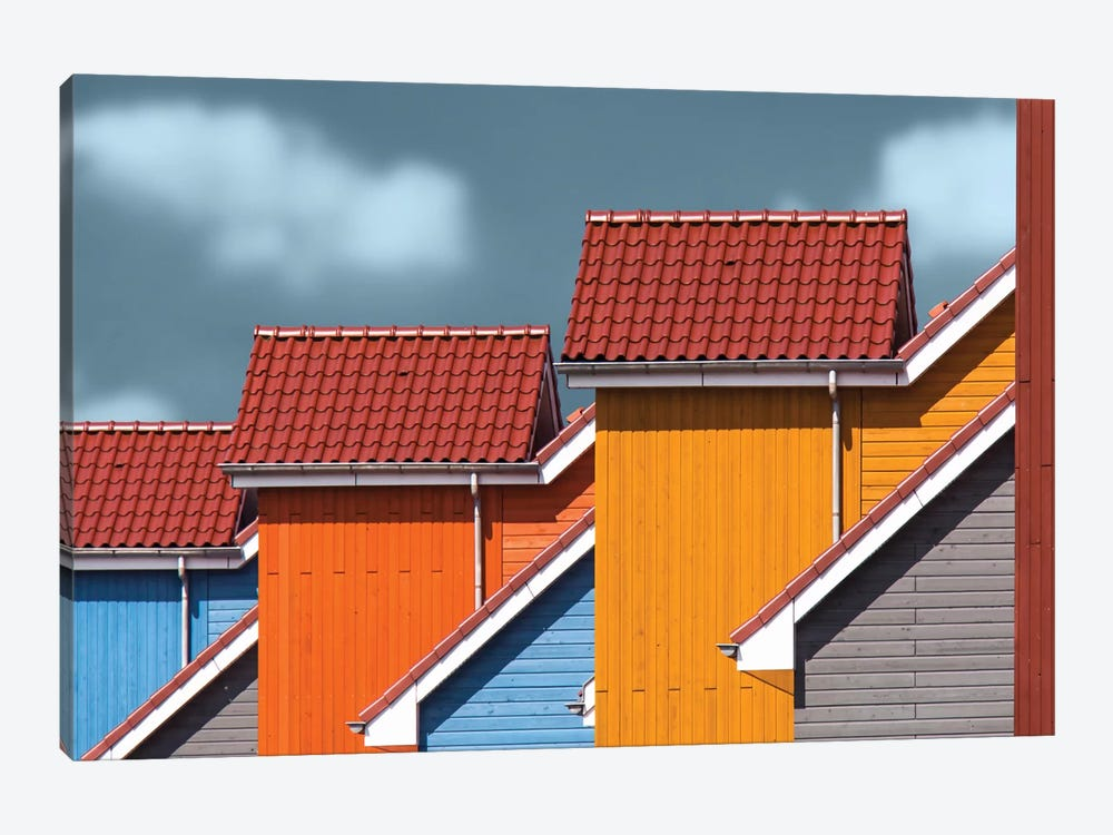 Roofs by Theo Luycx 1-piece Canvas Artwork