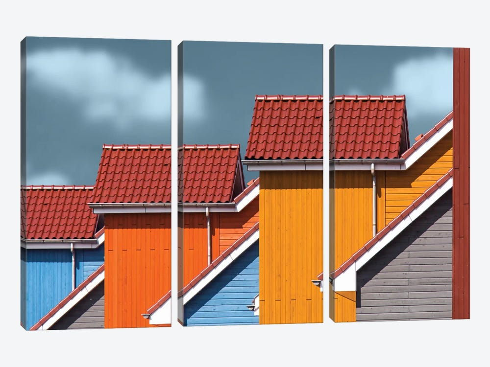 Roofs by Theo Luycx 3-piece Canvas Wall Art