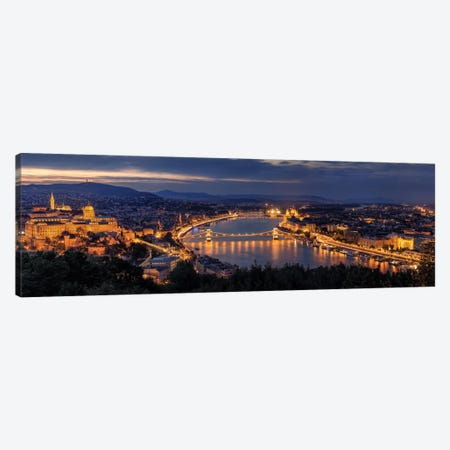 Panorama Of Budapest Canvas Print #OXM2143} by Thomas D Mørkeberg Canvas Print