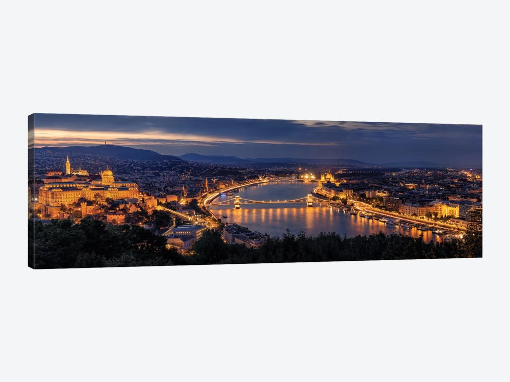 Panorama Of Budapest by Thomas D Mørkeberg 1-piece Canvas Art Print