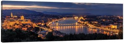 Panorama Of Budapest Canvas Art Print
