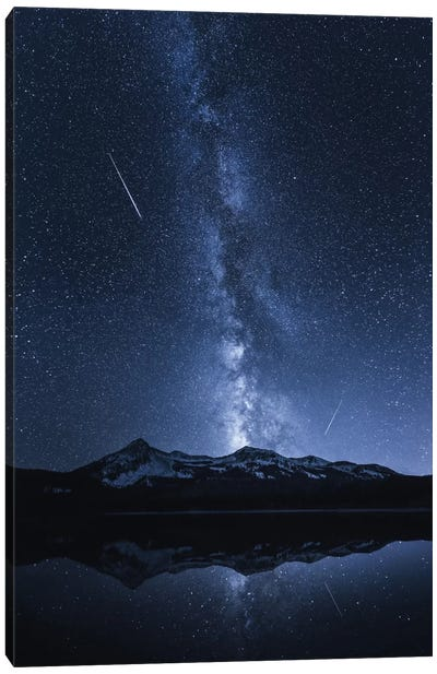 Galaxy's Reflection Canvas Art Print