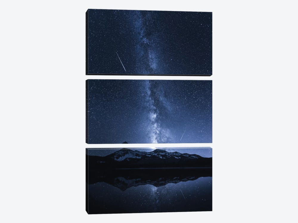 Galaxy's Reflection 3-piece Canvas Art Print