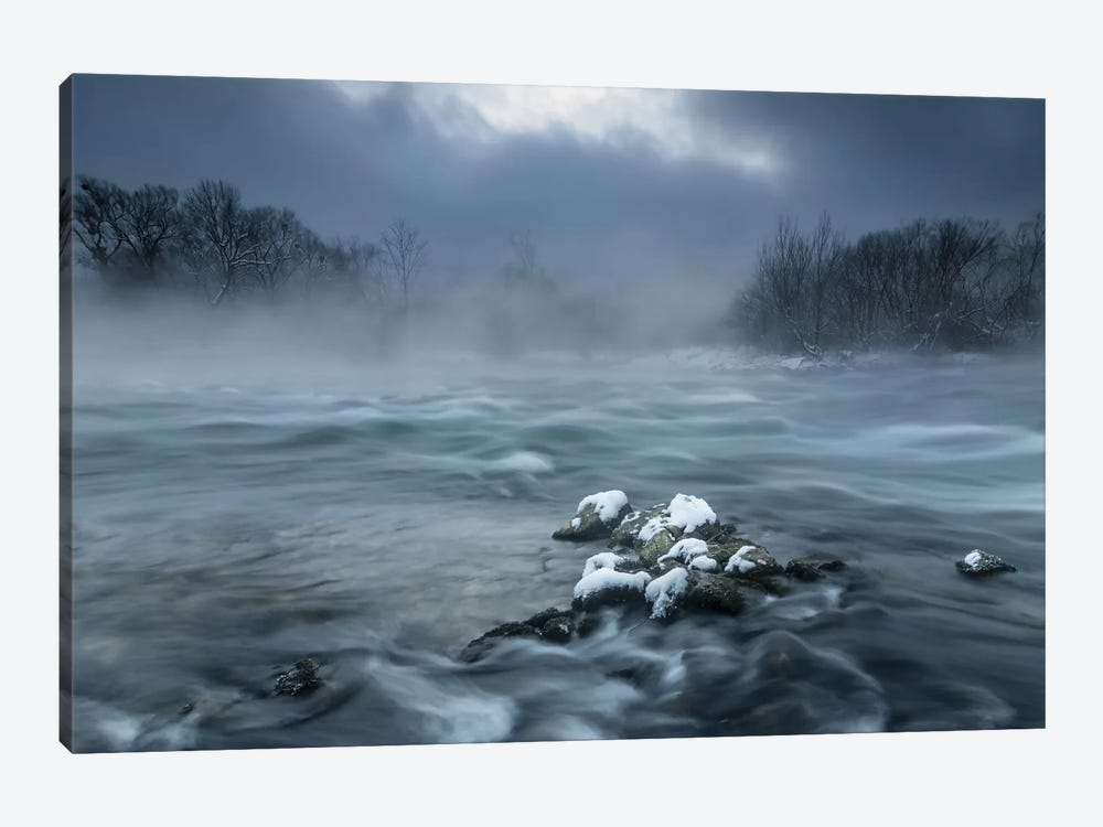 Frosty Morning At The River by Tom Meier 1-piece Canvas Artwork