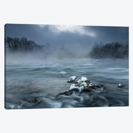 Frosty Morning At The River Canvas Print #OXM2160} by Tom Meier Canvas Print