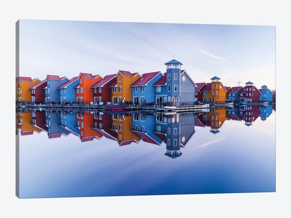 Colored Homes by Ton Drijfhamer 1-piece Art Print