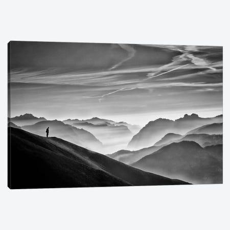 Hunter In The Fog B&W Canvas Print #OXM2196} by Vito Guarino Canvas Art Print