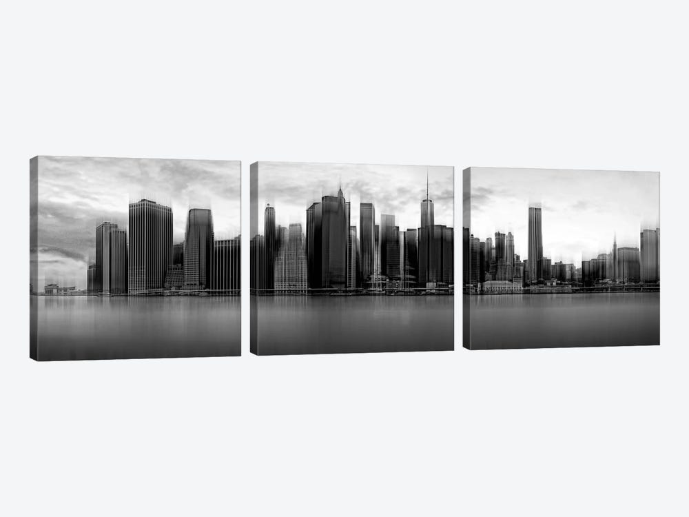 Downtown Skyline, New York City, New York, USA by Wim Schuurmans 3-piece Canvas Wall Art