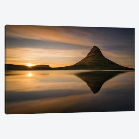 Kirkjufell Canvas Print #OXM2218} by Wojciech Kruczynski Canvas Art Print