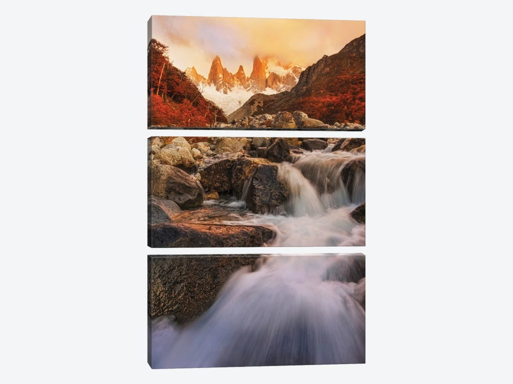 Autumn Impression by Yan Zhang 3-piece Canvas Art
