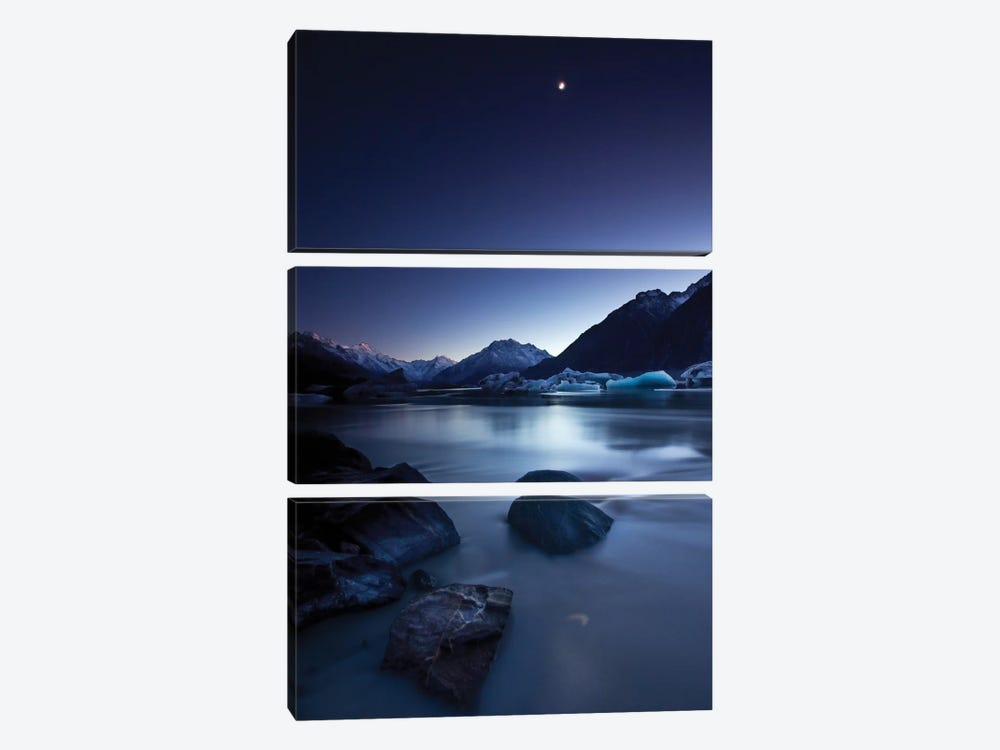 Moonlight by Yan Zhang 3-piece Canvas Wall Art