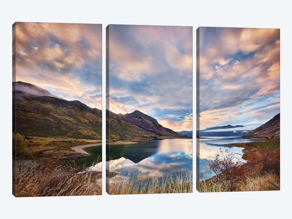 Morning Delight At Lake Hawea by Yan Zhang 3-piece Canvas Art Print