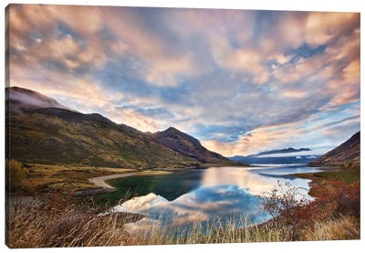 Morning Delight At Lake Hawea Canvas Art Print