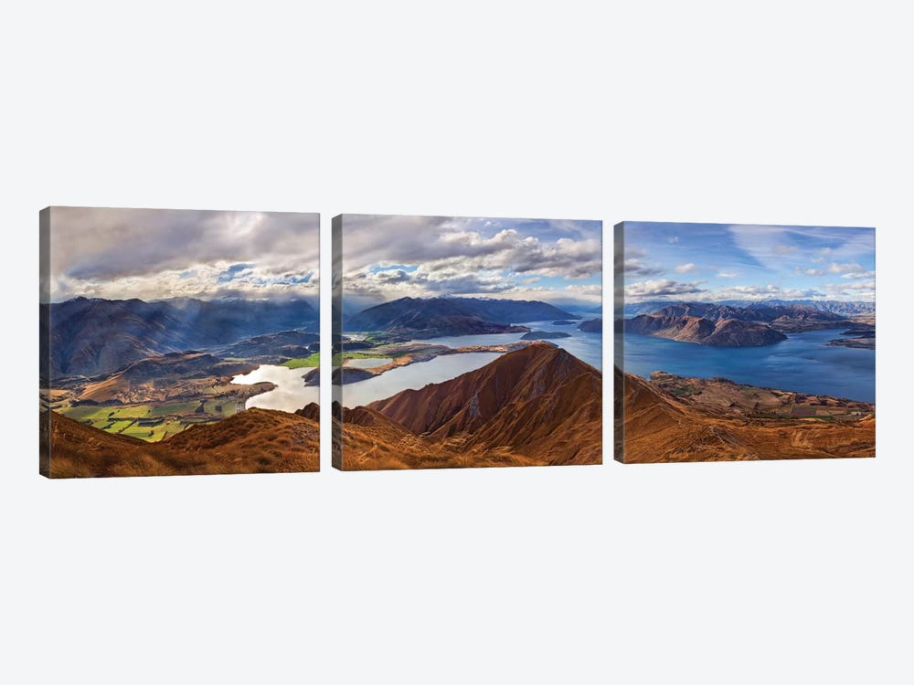 Roy's Peak by Yan Zhang 3-piece Canvas Art Print