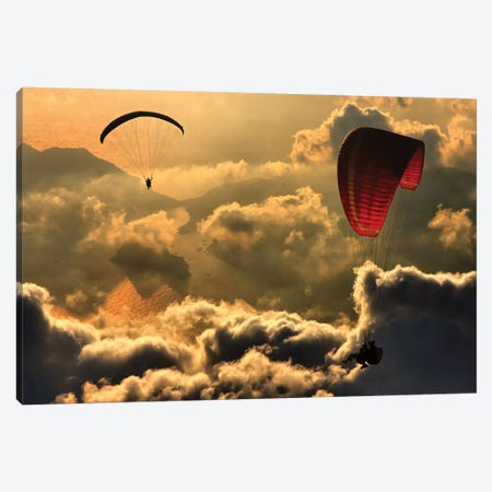 Paragliding II Canvas Print #OXM2237} by Yavuz Sariyildiz Canvas Wall Art